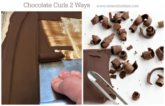 chocolate curls 2 ways from www.createdbydiane.com