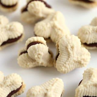 spritz cookies whipped ganache filling www.createdbydiane.com
