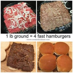 lb ground = 4 fast hamburgers www.createdbydiane.com