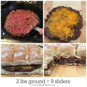 2 lbs ground = 9 sliders www.createdbydiane.com