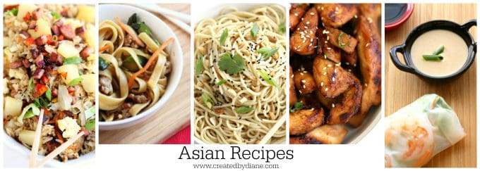 Asian recipes www.createdbydiane.com