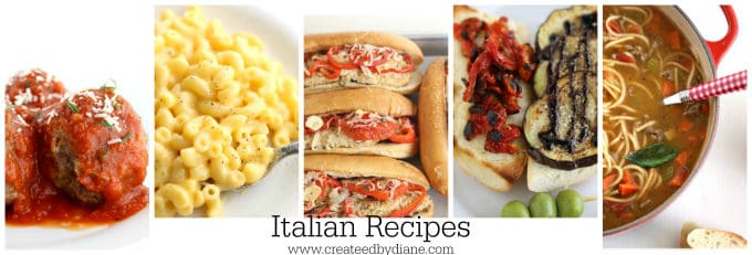 Italian Recipes www.createdbydiane.com