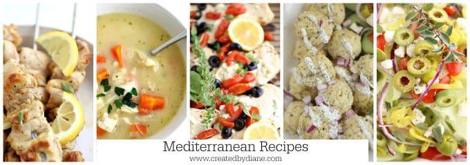 Mediterranean recipes www.createdbydiane.com