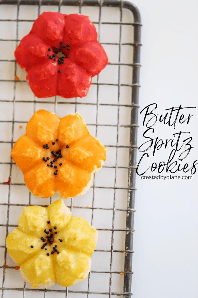 butter spritz cookies createdbydiane.com