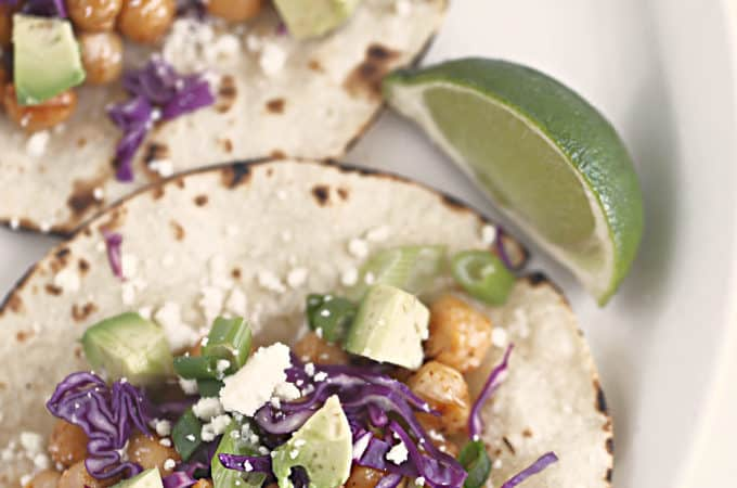 chili lime chick pea tacos www.createdbydiane.com #tacos #vegetarian #chickpeas
