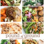 pound of ground recipes with ground beef, ground chicken, ground pork, ground turkey www.createdbydiane.com