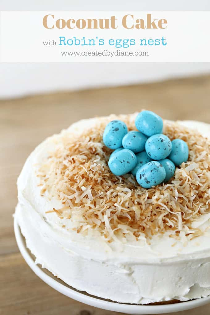 Miraculous Coconut Robins Egg Nest Cake Created By Diane Funny Birthday Cards Online Alyptdamsfinfo