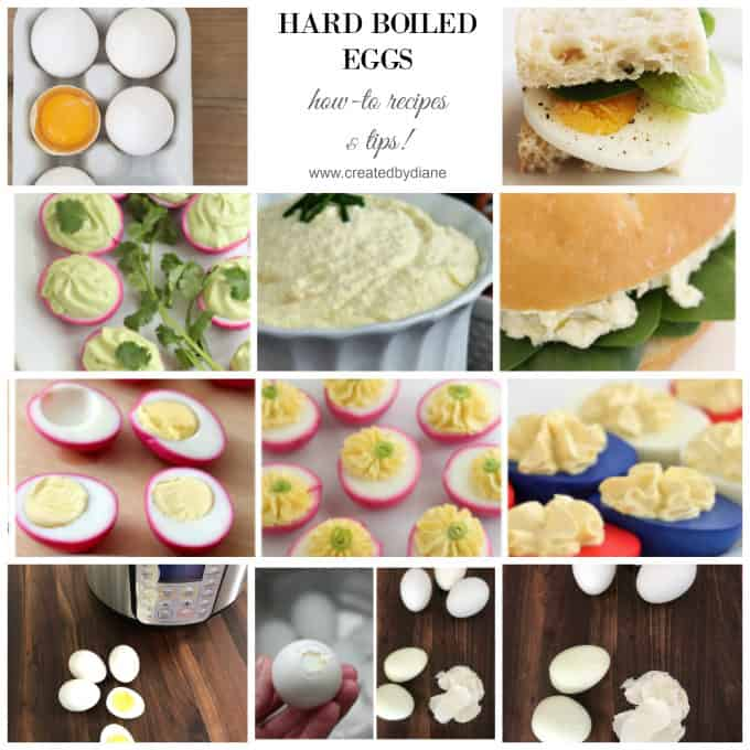 hard boiled eggs, how to, recipe and tips www.createdbydiane.com