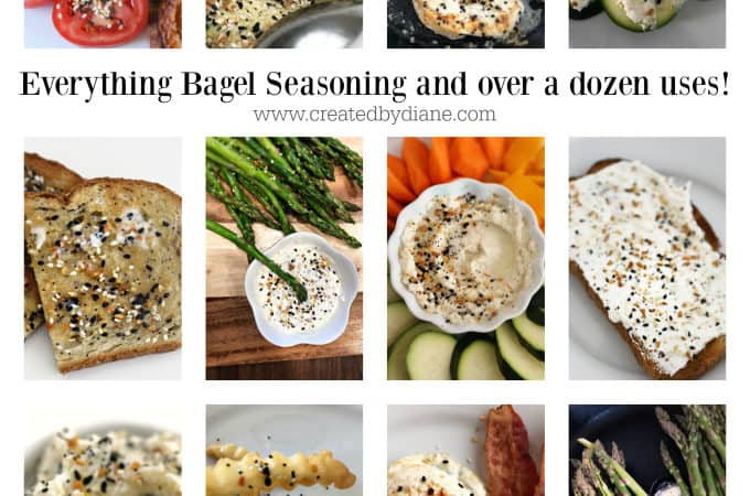 how to make everything bagel seasoning and over a dozen uses at www.createdbydiane.com