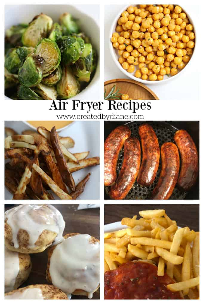 air fried recipes from createdbydiane.com