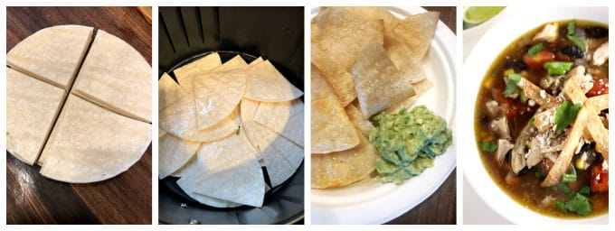 air fried tortillas, chips, strips, www.createdbydiane.com