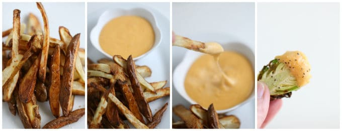 air fryer homemade french fries with homemade cheese sauce www.createdbydiane.com
