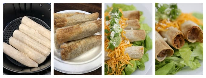 air fryer homemade taquitos www.createdbydiane.com