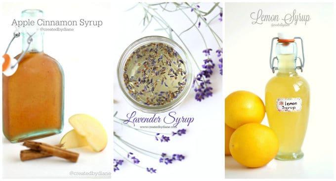 apple cinnamon, lavender, and lemon syrup www.createdbydiane.com