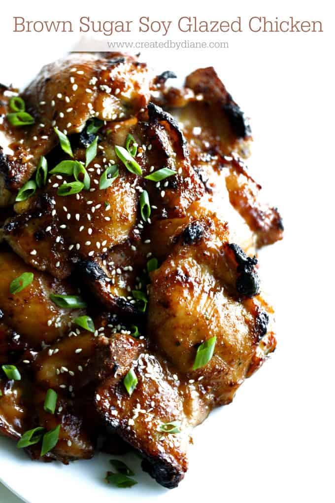 brown sugar soy glazed chicken www.createdbydiane.com