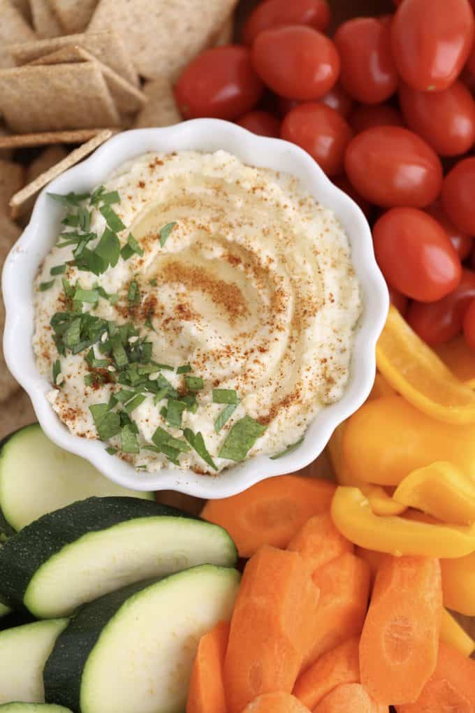 Cauliflower low carb hummus recipes www.createdbydiane.com
