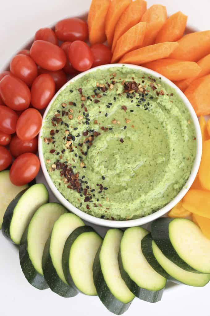Cauliflower Spinach Hummus Recipe www.createdbydiane.com
