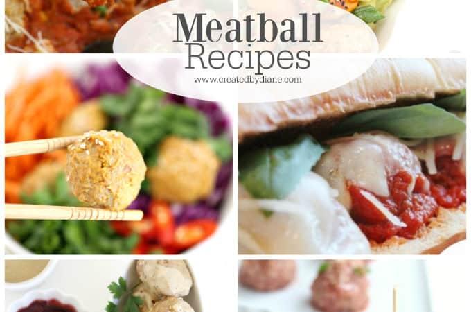 Meatball recipes www.createdbydiane.com