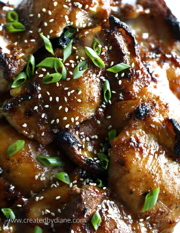 soy brown sugar marinated glazed chicken thighs oven or grill