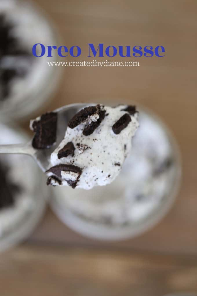 oreo mousse cookies and cream