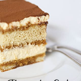 Tiramisu Cake no lady fingers needed, a delicious from scratch cake #italian #cake #tiramisu #coffee #custard www.createdbydiane.com