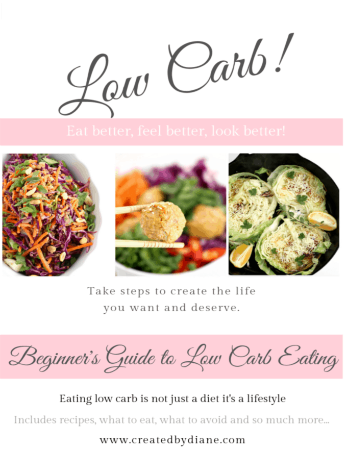 low carb guide from www.createdbydiane.com