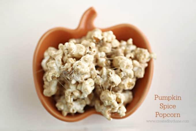 pumpkin spice popcorn recipe www.createdbydiane.com