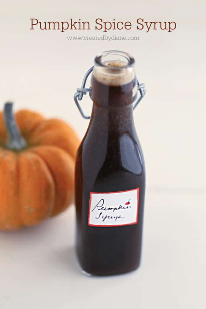 pumpkin spice syrup recipe