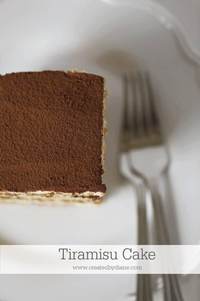 slice of tiramisu cake www.createdbydiane.com