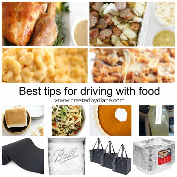 THE very best tips for traveling in the car with food, for parties, holidays, picnics, beach days, feeding a crowd www.createdbydiane.com