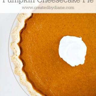 One-Step PUMPKIN CHEESECAKE PIE www.createdbydiane.com