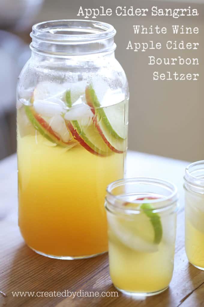 Apple Cider Sangria Recipe www.createdbydiane.com