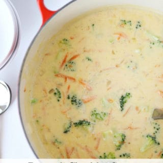 broccoli cheddar soup recipe www.createdbydiane.com
