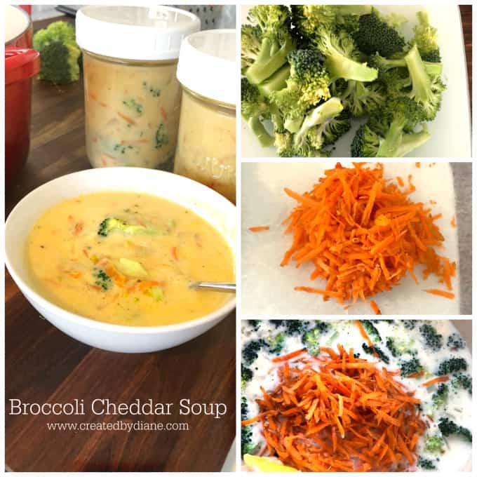 Broccoli Cheddar www.createdbydiane.com how to store soup