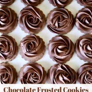 chocolate frosting cookies www.createdbydiane.com