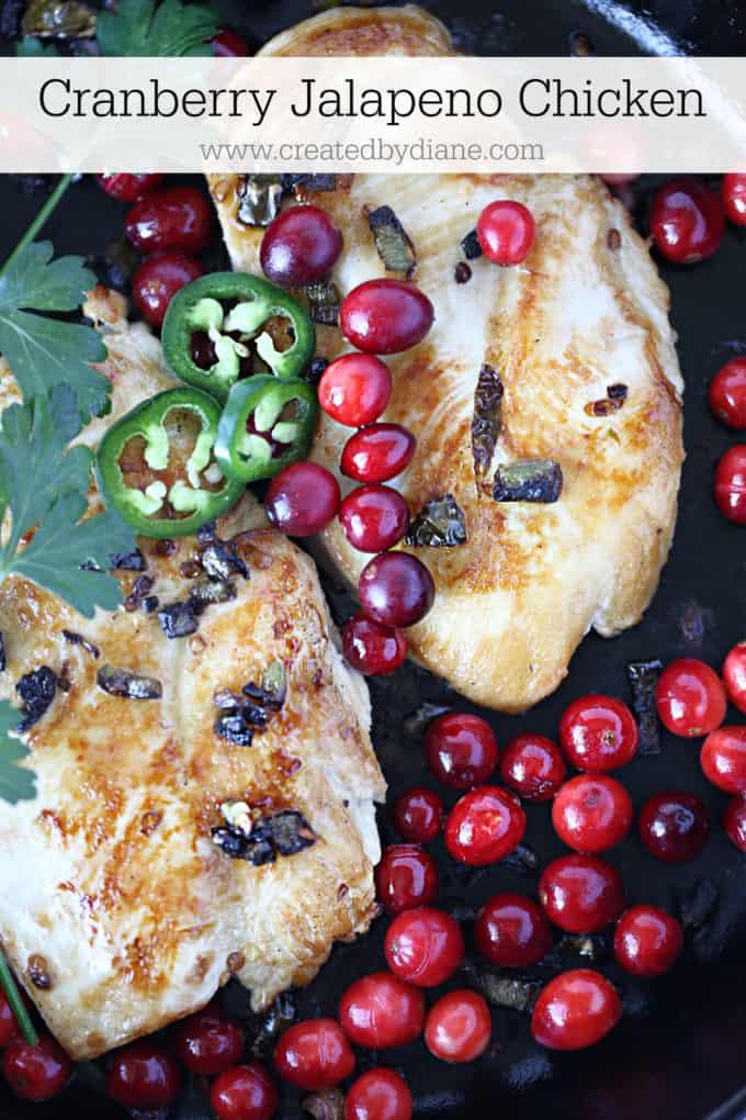cranberry jalapeno chicken www.createdbydiane.com