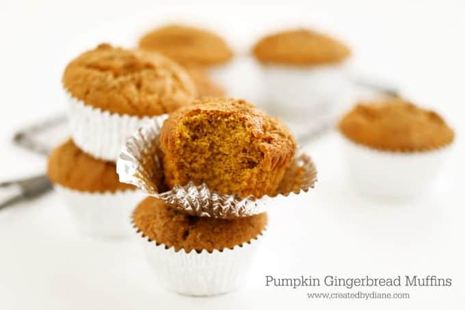 pumpkin and gingerbread muffin www.createdbydiane.com