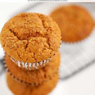 pumpkin gingerbread muffins www.createdbydiane.com