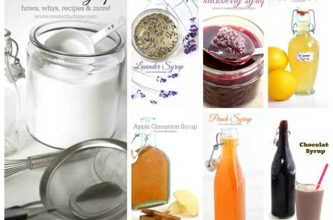 how to make simple syrup and flavored syrups lots of recipes www.createdbydiane.com