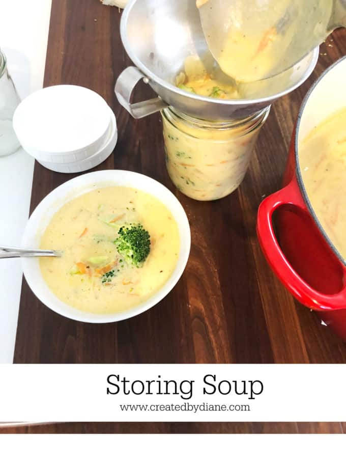 storing soup tips, products, reheating and recipes