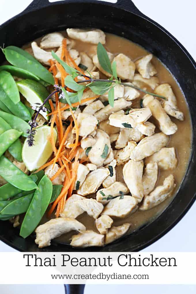 thai peanut chicken recipe www.createdbydiane.com