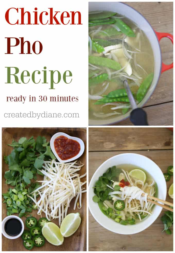 chicken pho vietnamese soup recipe createdbydiane.com
