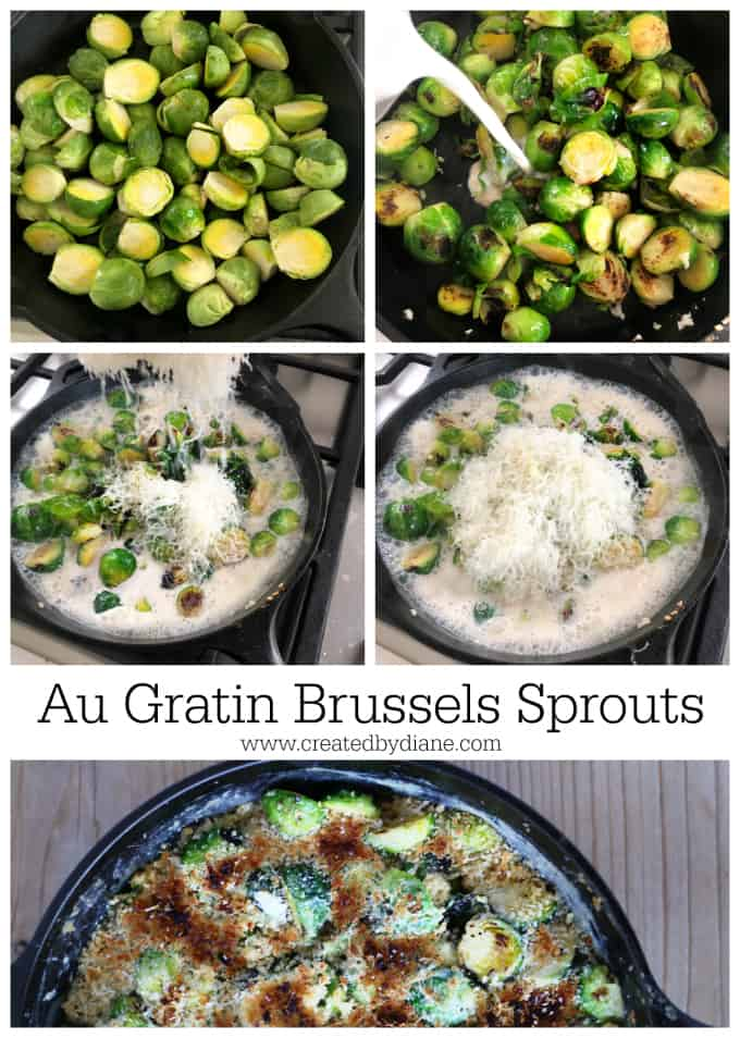 au gratin brussels sprouts createdbydiane.com