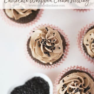 chocolate whipped cream frosting www.createdbydiane.com