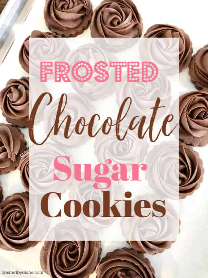 frosted chocolate sugar cookies