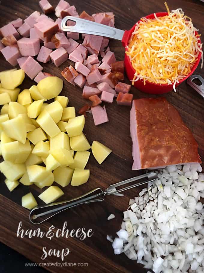 ham and cheese soup www.createdbydiane.com