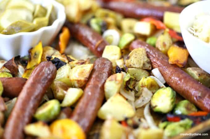 Italian hot dog recipe on a sheet pan createdbydiane.com