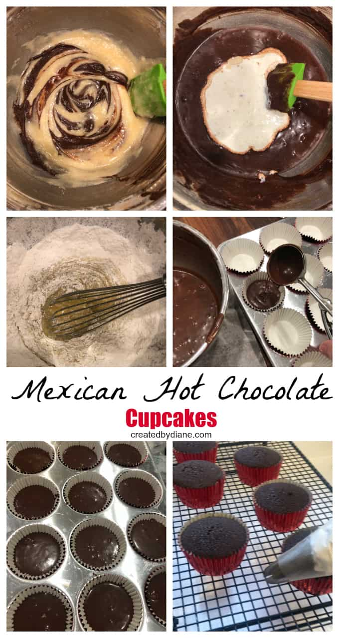 Mexican Hot Chocolate Cupcakes createdbydiane.com