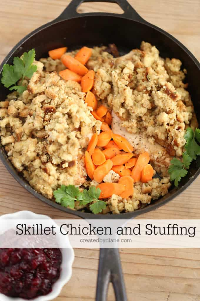 Skillet Chicken and Stuffing createdbydiane.com