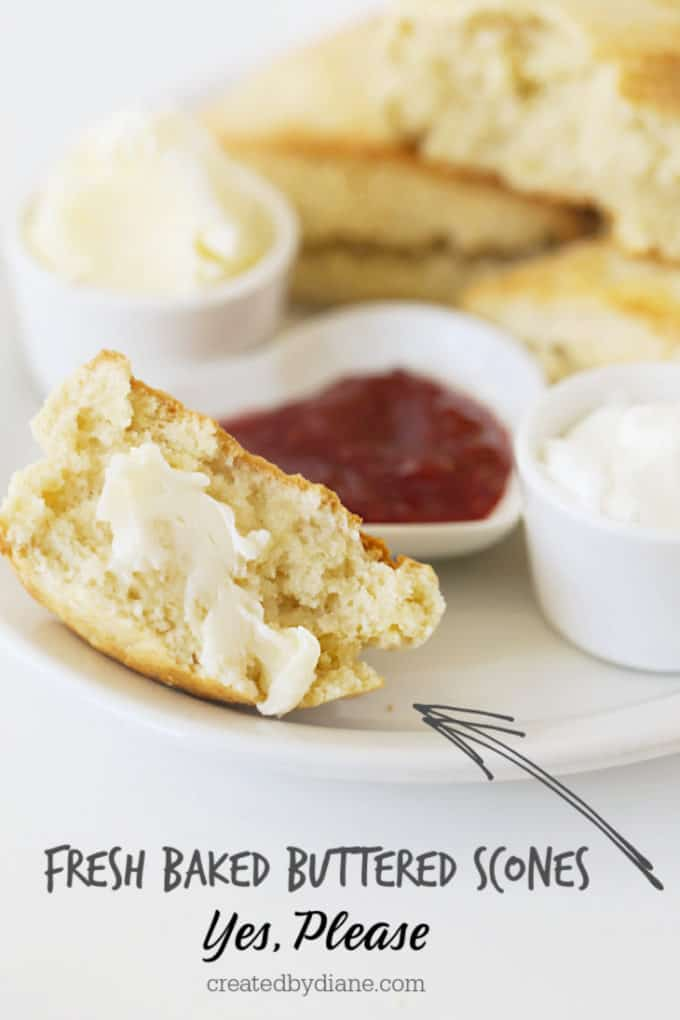 buttered cream scone createdbydiane.com